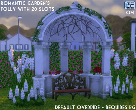 gardens folly with 20 slots by om at sims 4