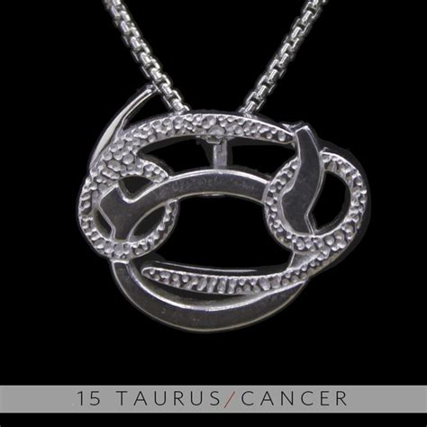 the taurus and cancer silver unity pendant on storenvy