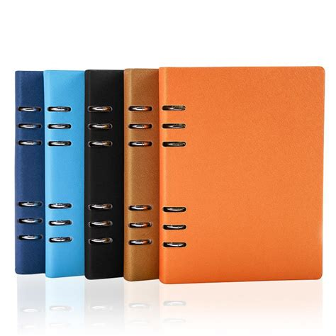 Agenda Book Binder 2015 leather notebook a5 daily planner agenda creative design 6 ring binder spiral note book
