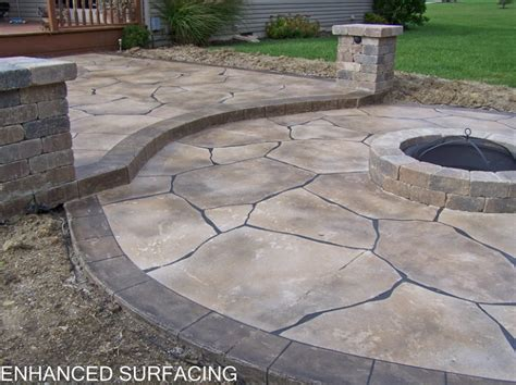 Concrete Patio Ideas With Pit garden treasures sted concrete pit garden landscape