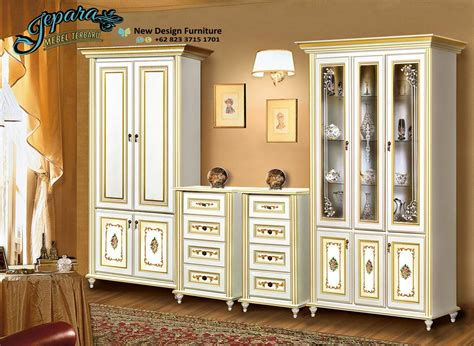 Lemari Kayu Hias lemari hias minimalis kayu jepara modern murah bt 039 set