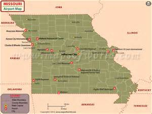 us map showing airports airports in missouri missouri airports map