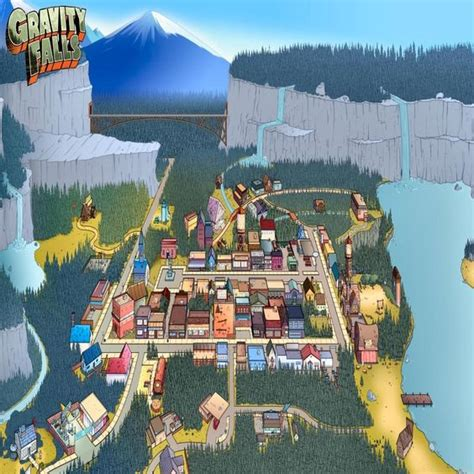 map of gravity falls gravity falls fall and maps on