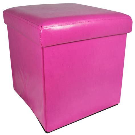 foldable storage ottoman with lid 38cm folding storage pouffe cube foot stool seat ottoman