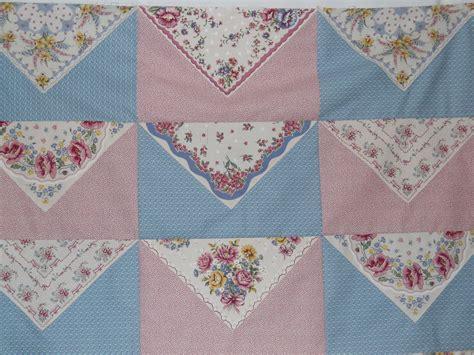 quilt pattern using handkerchiefs vintage hanky handkerchief rag quilt ii rag quilt