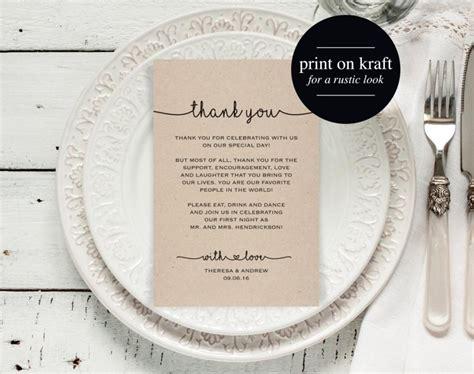 Wedding Reception Thank You Card Template