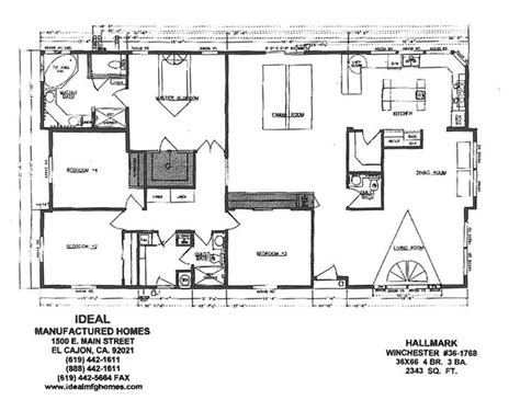 large modular home floor plans triple wide mobile home floor plans ideal mfg homes