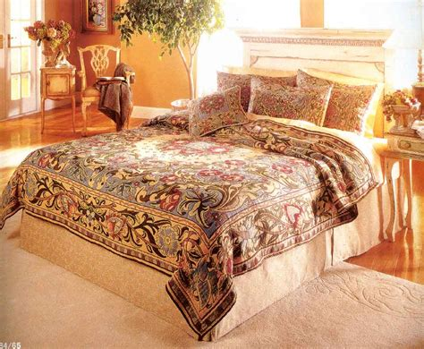 tapestry comforters william morris classic design tapestry bedspread dwell