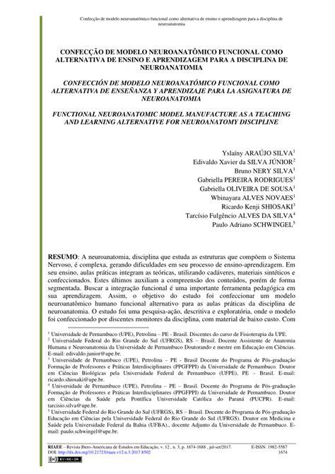 (PDF) Confecção de modelo neuroanatômico funcional como