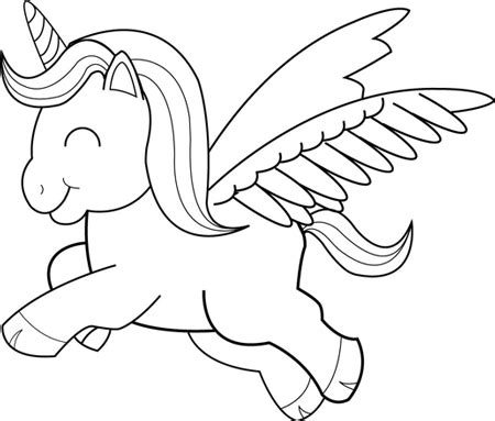 easy unicorn coloring page drawn cartoon unicorn pencil and in color drawn cartoon