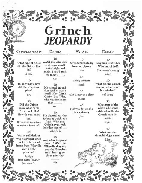 printable christmas jeopardy game image result for grinch party game ideas christmas