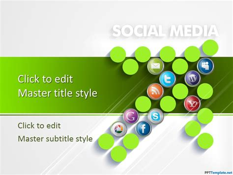 Free Social Media Digital Marketing Ppt Template Social Media Powerpoint Template Free