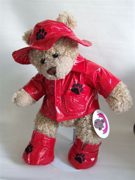 Teddy Wardrobe by Teddy Clothes 2 In 1 Raincoat Hat Boots