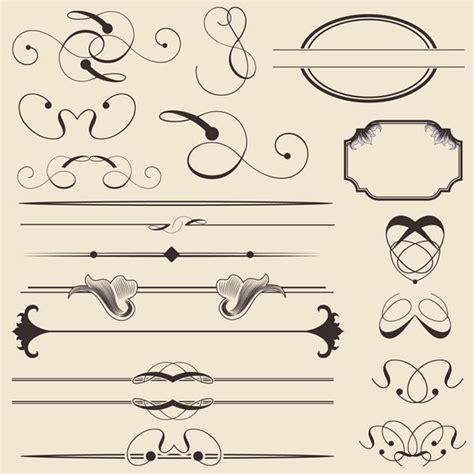 Calligraphy Decorations by 30 Free Ornaments Frames Borders Vector Resources
