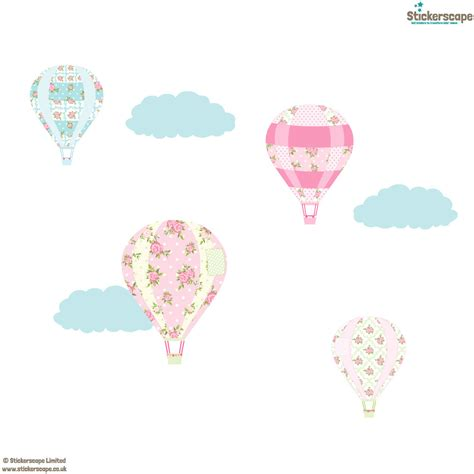 Air Balloons Wall Sticker vintage air balloon wall stickers transport wall