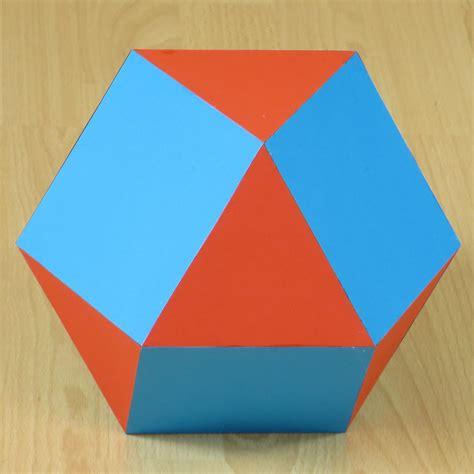 Cuboctahedron Origami - paper cuboctahedron