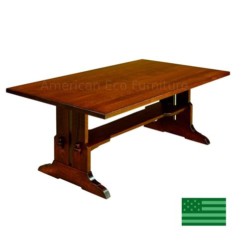 dining room tables made in usa amish solid wood heirloom furniture made in usa fresno trestle dining table american eco