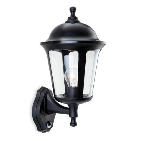 Polycarbonate Outdoor Lighting Boston Polycarbonate Outdoor Wall Lantern In Black With Pir Sensor Outdoor Lights From