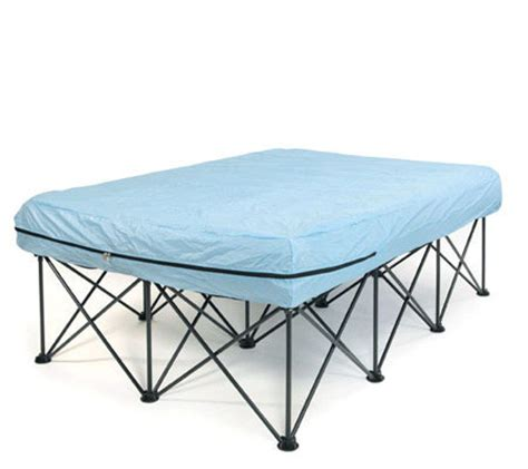 queen portable bed frame  air filled mattresses