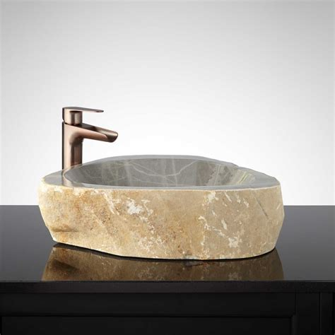 stones in bathroom sink stone vessel sink natural rock sinks natural stone vessel