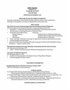 Resume Job Objective sample sociology major resume