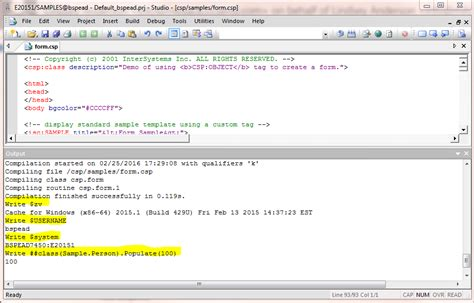 using regular expressions in cach intersystems developer community studio tip running cos commands from output