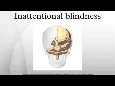 Perceptual Blindness inattentional blindness