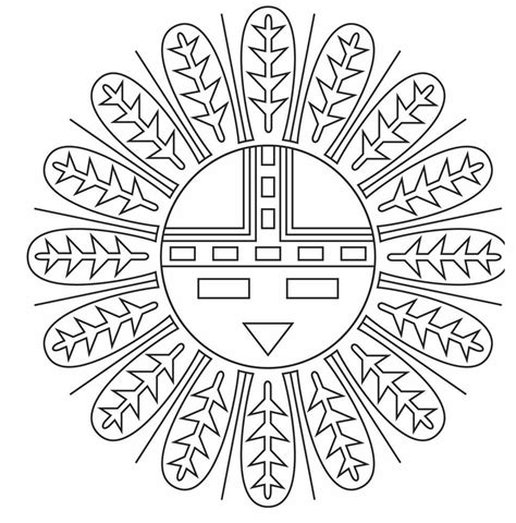navajo indian coloring pages native american coloring designs american indian