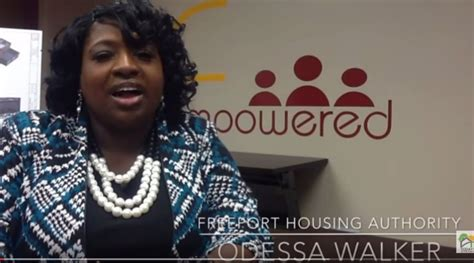 freeport housing authority odessa walker of the freeport housing authority discusses the family self sufficiency