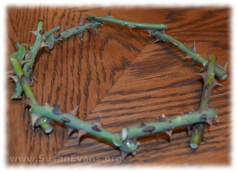 How To Make A Crown Of Thorns Out Of Paper - crown of thorns susan s homeschool susan s