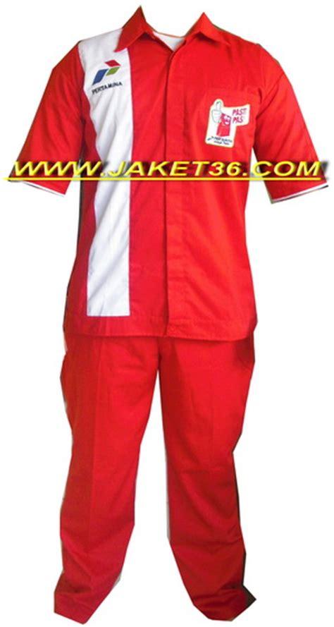 Seragam Pertamina konveksi jaket36 bikin seragam celana dan kemeja kerja