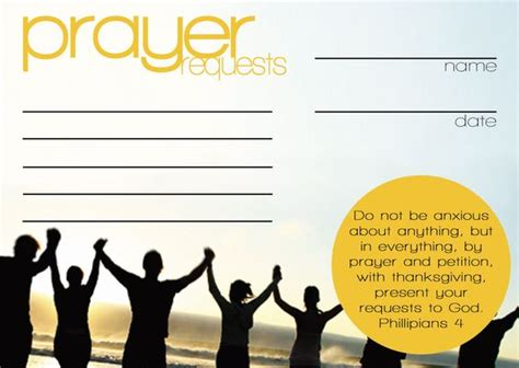 prayer card template for word the world s catalog of ideas