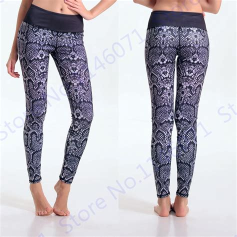 snakeskin pattern yoga pants popular snake print tights buy cheap snake print tights