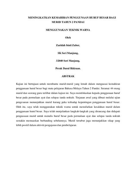 format proposal kajian laporan kajian tindakan bahasa melayu