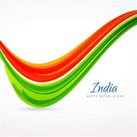 tri color indian tricolor wave vector free