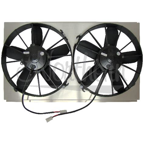 high cfm electric radiator fans northern factory dual high cfm 12 quot electric fan shroud