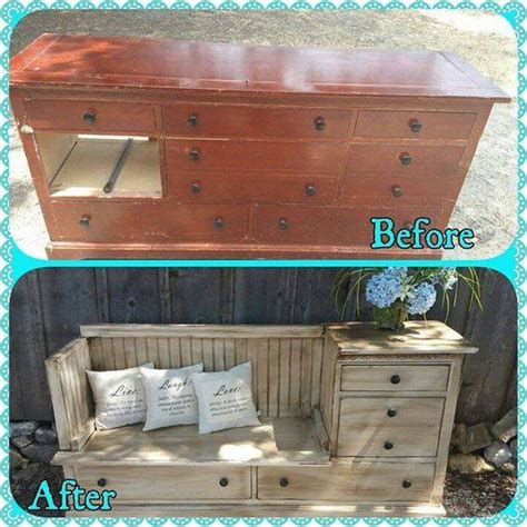 dresser into bench 20 of the best upcycled furniture ideas kitchen fun