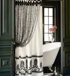 Bathroom Curtain Ideas Double Shower Curtain Ideas