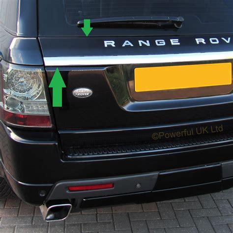 chrome range rover sport 3pc chrome 2012 style rear tailgate upgrade conversion kit