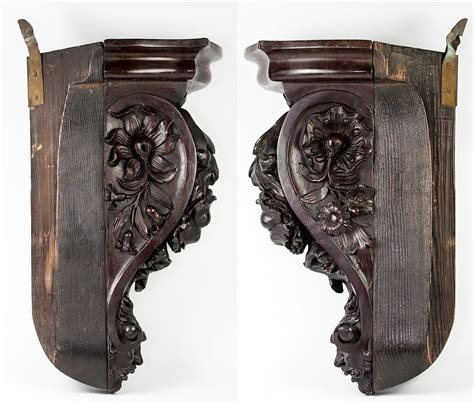 Carved Shelf Brackets Unique Antique Carved Wood Figural Corner