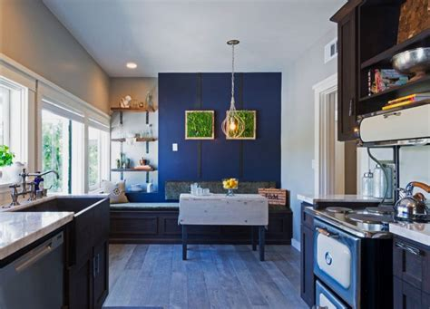 rustic kitchen love the blue retro appliances with the 68 best our tile your vision images on pinterest
