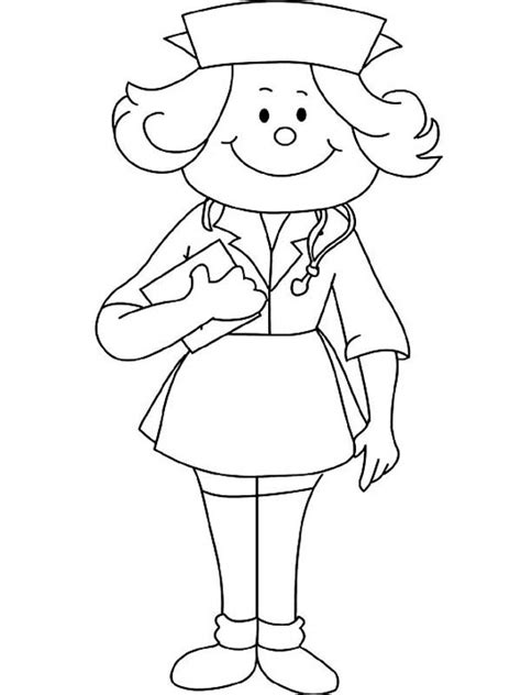 coloring pages for nurses nurse coloring pages to download and print for free
