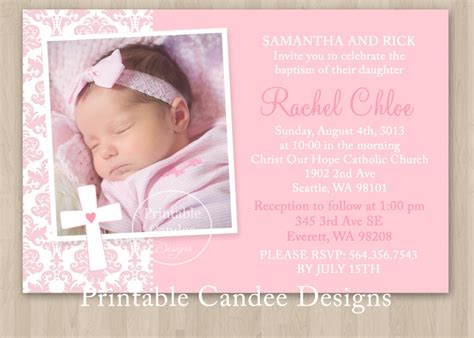 baptism invitations templates pin christening invitation templates free on