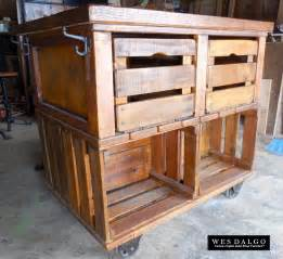 Kitchen Island Rustic Apple Crate Rustic Farmhouse Kitchen Island Cart