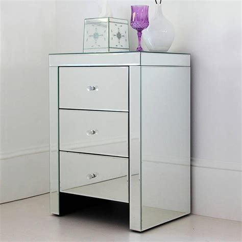 Small Mirrored Nightstand by 10 Mirrored Bedside Table Designs Rilane