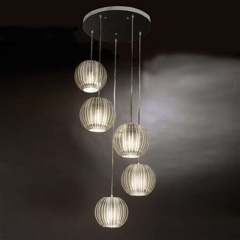 Multi Light Pendants Shop Trend Lighting 80 In Satin Silver Multi Pendant Light At Lowes