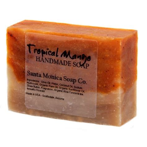 Handcrafted Soap Companies - santa soap co handmade soap tropical mango with