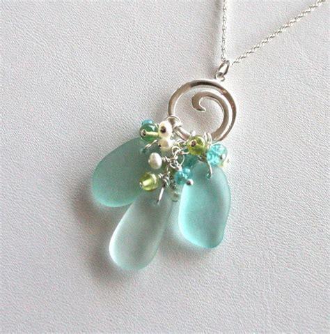 sea glass jewelry ideas best 25 glass necklace ideas on sea glass