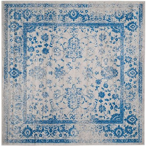 10 X 10 Ft Square Rug - safavieh adirondack grey blue 10 ft x 10 ft square area