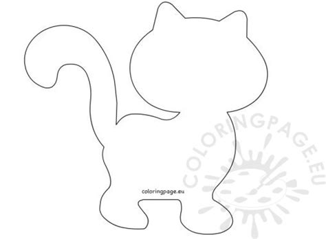 template of cat animal coloring page